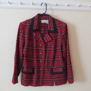 Vintage! Plus Size 90s Plaid Blazer